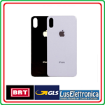 BACK COVER SCOCCA POSTERIORE APPLE IPHONE XS MAX VETRO RETRO NERO BLACK