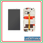 DISPLAY LCD TOUCH SCREEN + FRAME HUAWEI ASCEND MATE 8 COLORE BIANCO