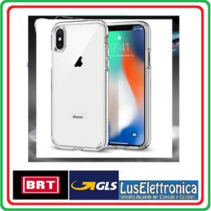 COVER PER IPHONE XS/ MAX/ XR APPLE TRASPARENTE MORBIDA CUSTODIA