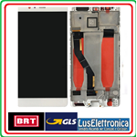 DISPLAY LCD SCHERMO TOUCH SCREEN PER HUAWEI  P9 PLUS COLORE BIANCO CON FRAME