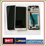 DISPLAY LCD ASSEMBLATO TOUCH SCREEN VETRO CON  FRAME  HUAWEI Y6 (2018) ATU-L11 BIANCO