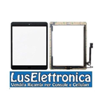 TOUCH SCREEN + VETRO APPLE IPAD 4 - IPAD4 NERO PER 3G WIFI COMPLETO DI TASTO HOME E ADESIVO
