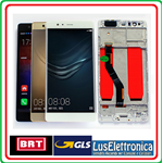 DISPLAY LCD SCHERMO TOUCH SCREEN PER HUAWEI  P9 PLUS COLORE GOLD CON FRAME