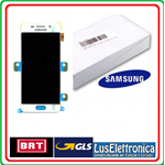 LCD DISPLAY COMPLETO PER SAMSUNG GALAXY A3 2016 SM-A310F BIANCO SERVICE PACK