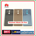 HUAWEI MATE 10 PRO VETRO POSTERIORE BACK COVER GLASS REAR BLA-L09 L29 BLACK