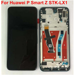 LCD DISPLAY  HUAWEI P SMART Z STK-LX1 LX2 CON FRAME COLORE NERO BLACK