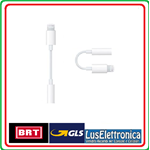 APPLE LIGHTNING A 3,5 mm JACK AURICOLARI ADATTATORE PER IPHONE 7 MMX62ZM/A BULK