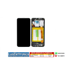 DISPLAY LCD SERVICE PACK SAMSUNG GALAXY A21S SM-A217F DS COLORE NERO CON FRAME
