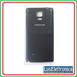 BACK COVER SAMSUNG GALAXY NOTE 4 SM-N910F BACK TAPPO COLORE NERO N910