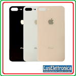 BACK COVER SCOCCA POSTERIORE APPLE IPHONE 8 PLUS BIANCA WHITE (FORO LARGO)