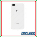 BACK COVER SCOCCA POSTERIORE APPLE IPHONE 8 PLUS 8+ SILVER + ADESIVO